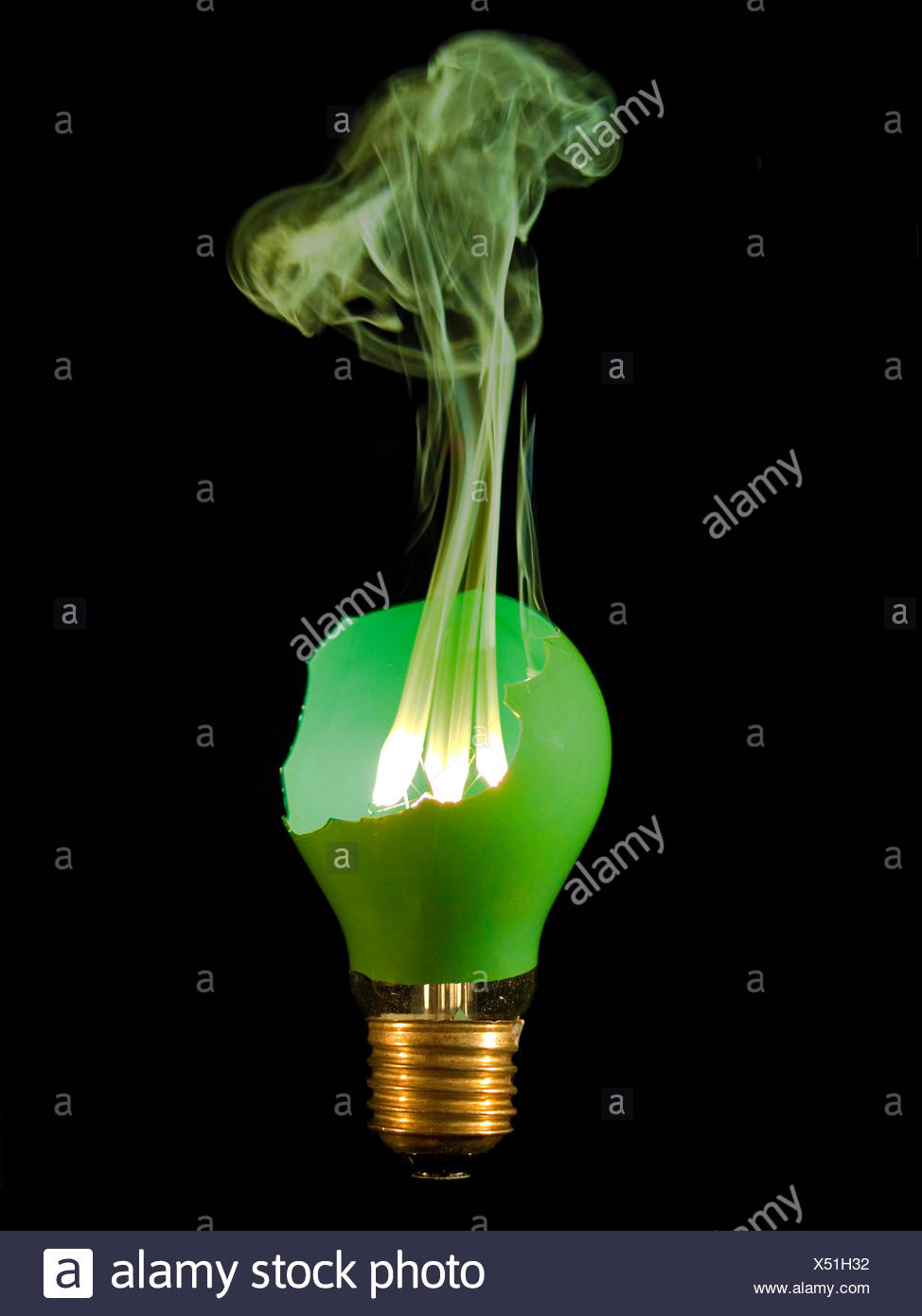 shine shines bright lucent light serene luminous green broken electric shiner Stock Photo