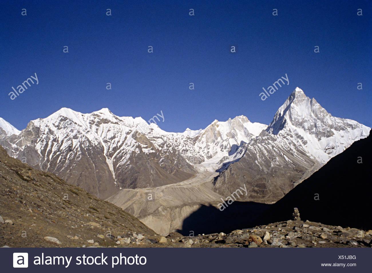 Shivling peak, mountain at tapovan, Gangotri Group, western