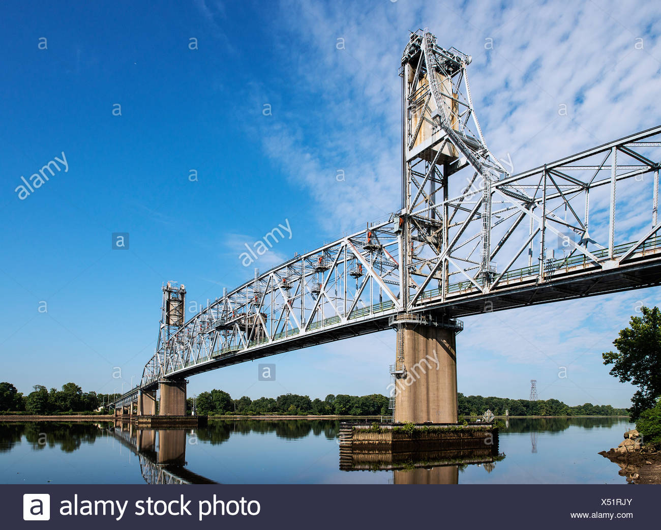 Burlington–Bristol Bridge, Burlington, New Jersey, USA - Stock Image