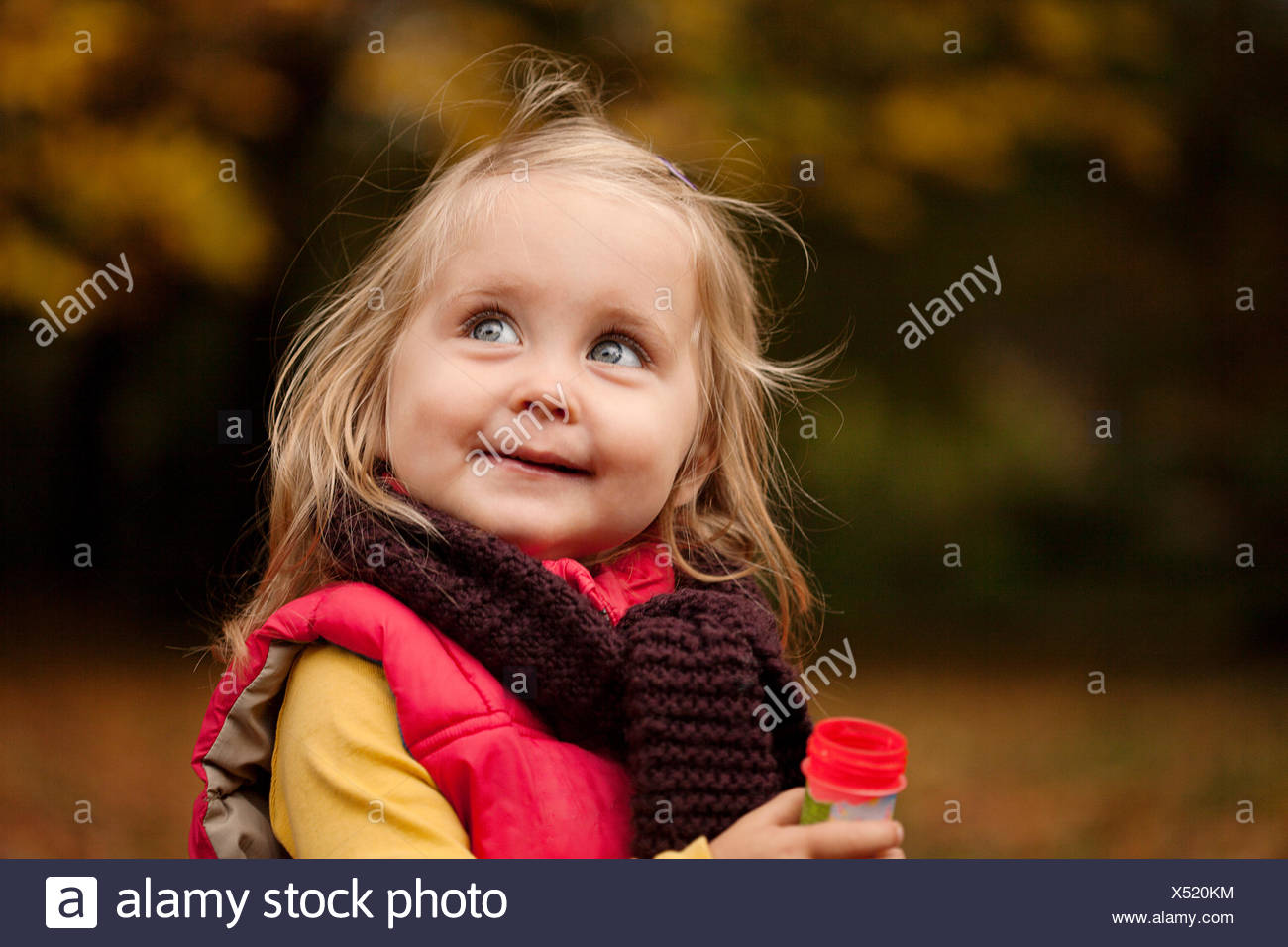Young girl with blonde hair, portrait - Stock Image