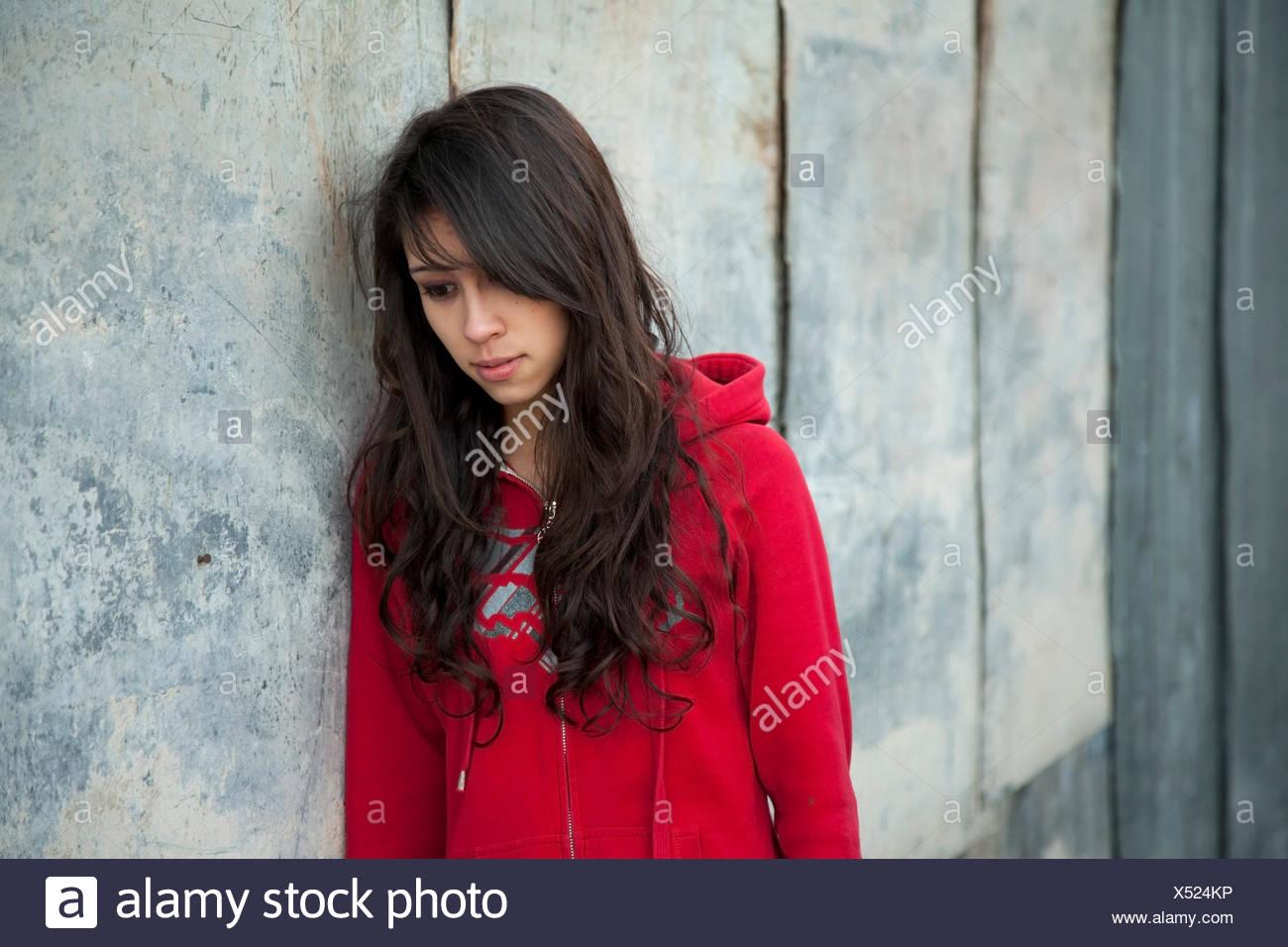 sad depression alone - Stock Image