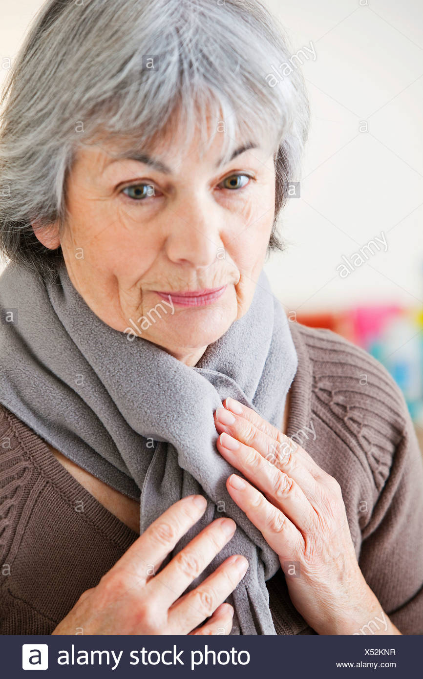 COLD, ELDERLY PERSON - Stock Image