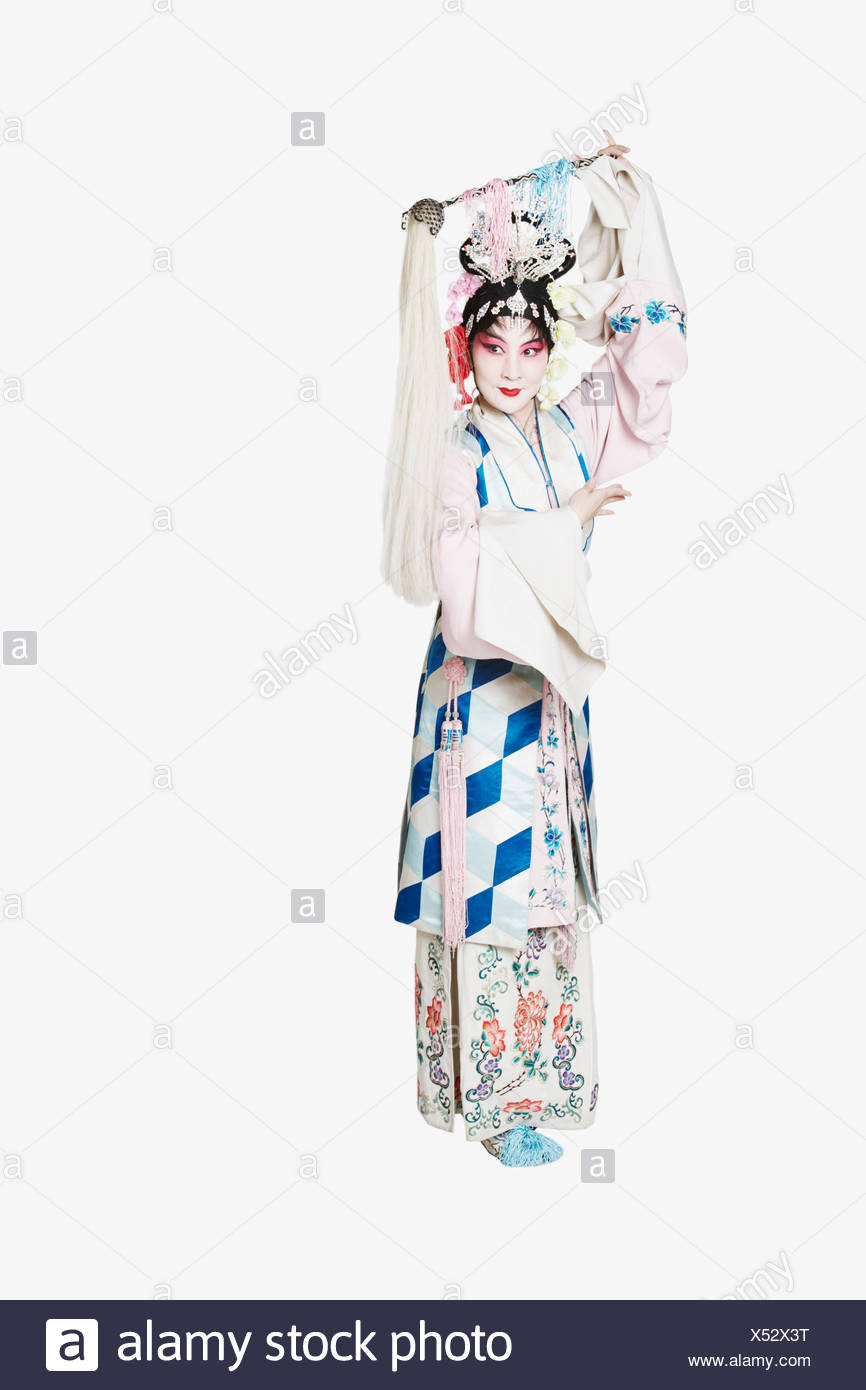 Mature woman wearing traditional clothing - Stock Image