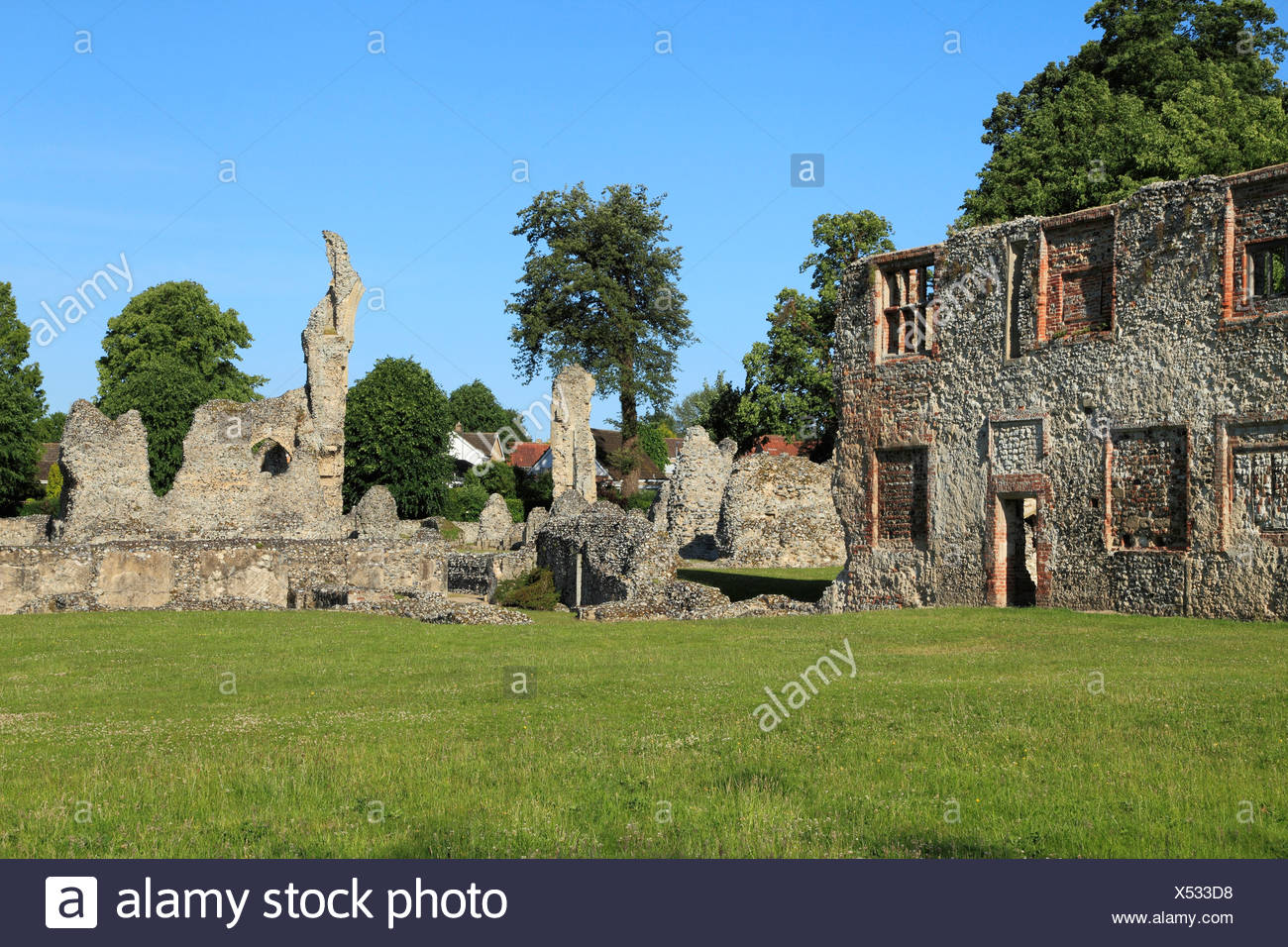 Thetford Priory, ruins of Cluniac Priory, Norfolk England UK English medieval Priories - Stock Image