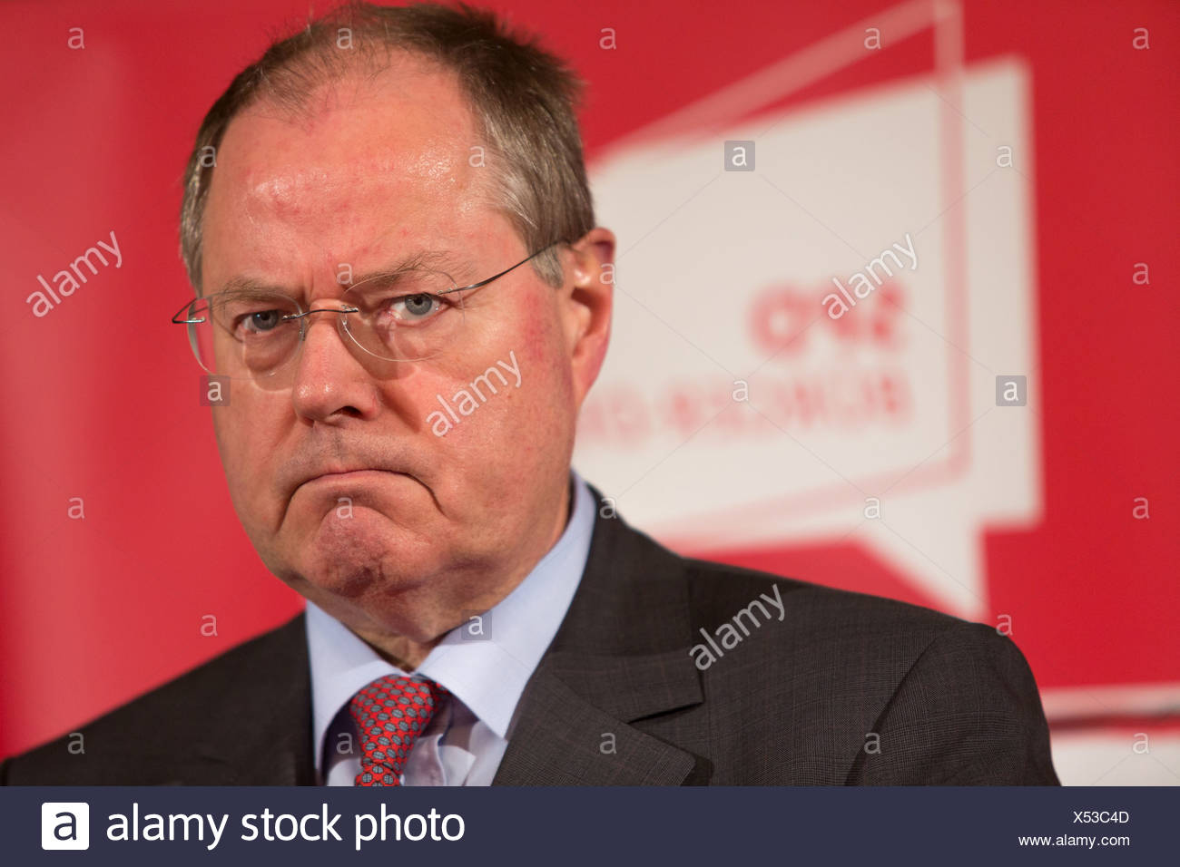 Luebeck, Germany, SPD mayor dialogue with Peer Steinbrueck - Stock Image