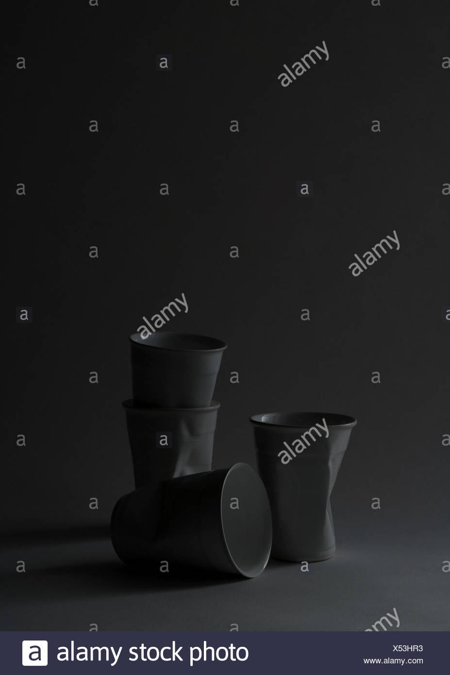 Disposable cups, studio shot - Stock Image