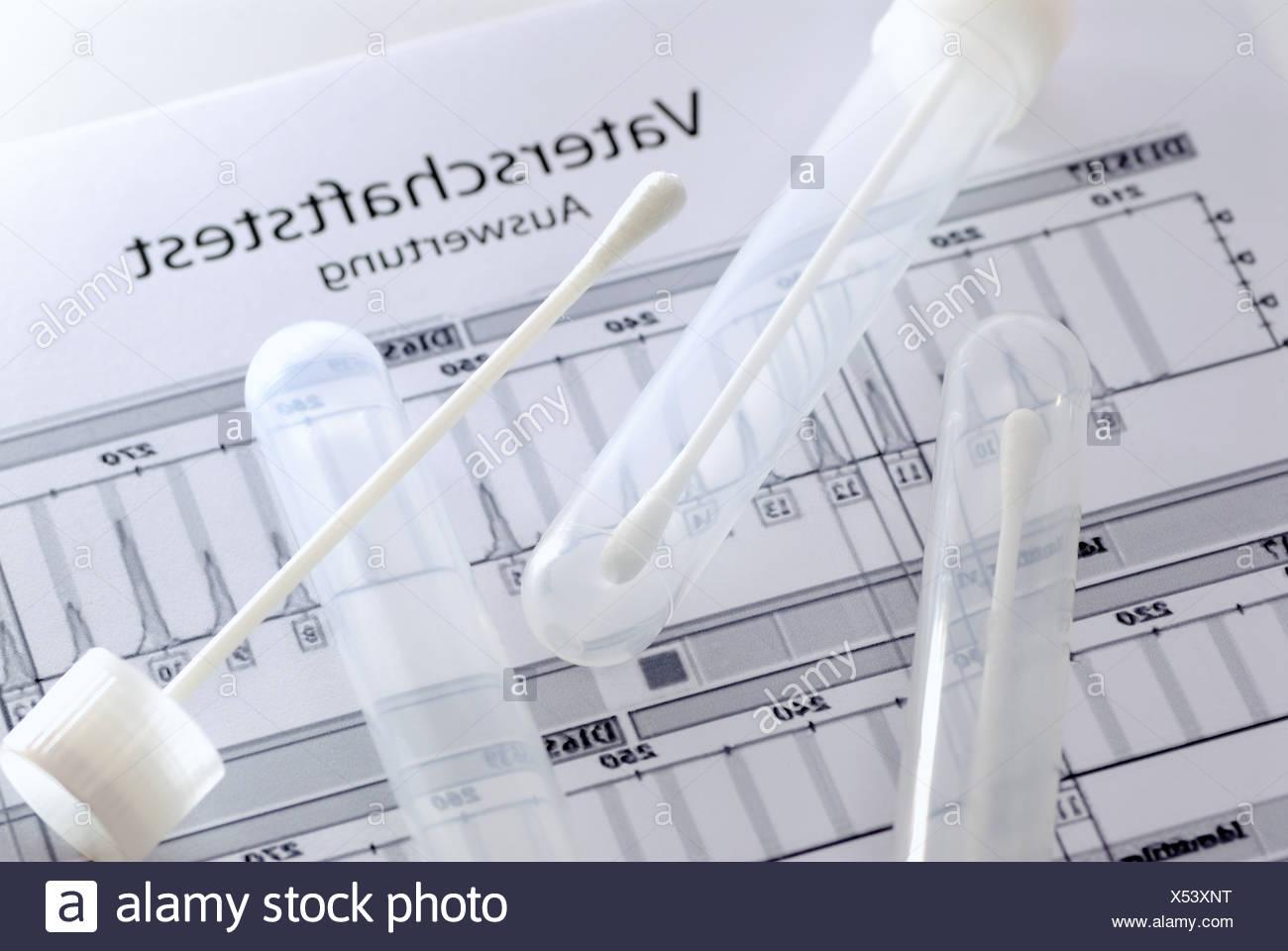 Paternity Test - Stock Image