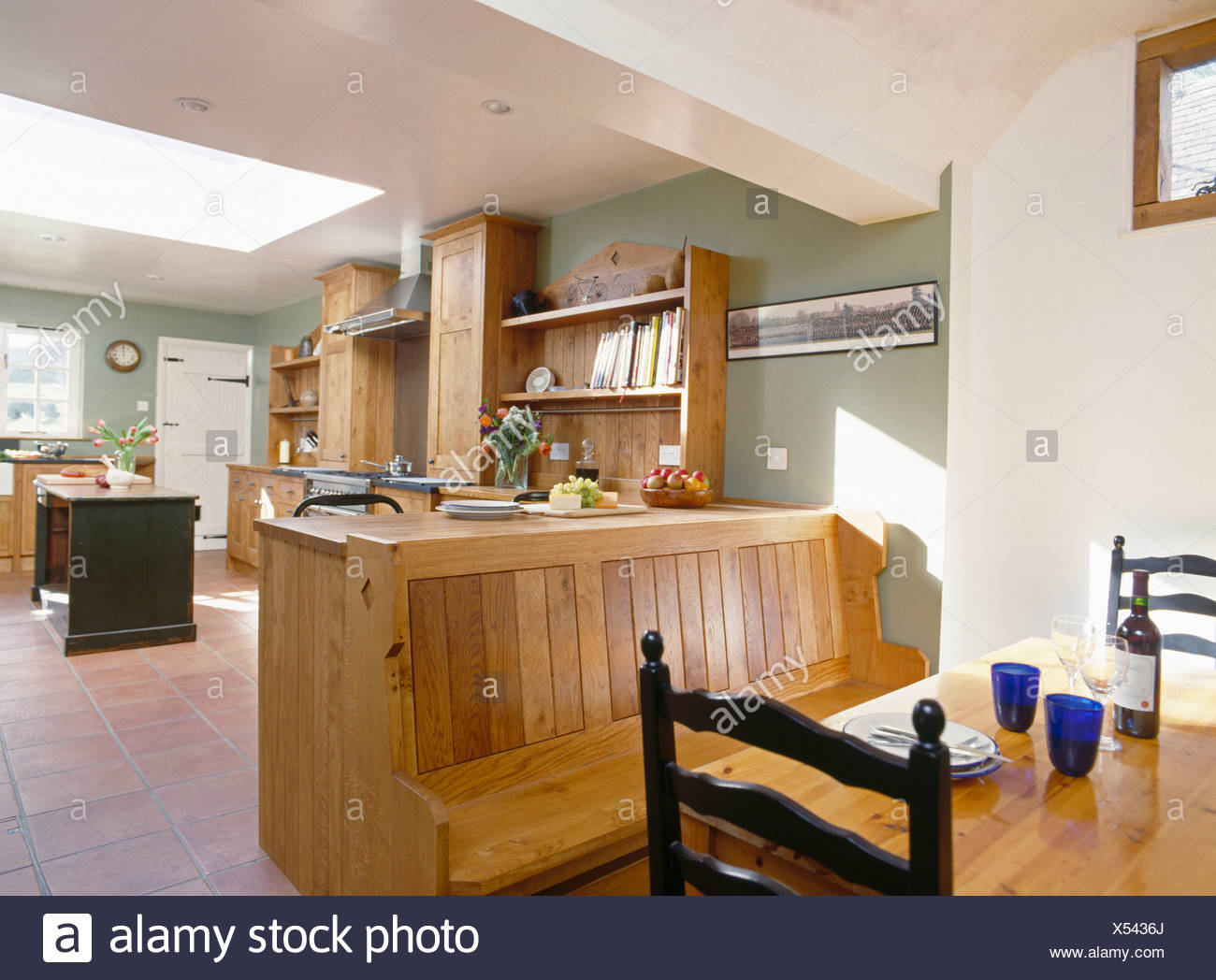 Superb Fitted Wooden Bench Seating At Table In Dining Area In Large Lamtechconsult Wood Chair Design Ideas Lamtechconsultcom