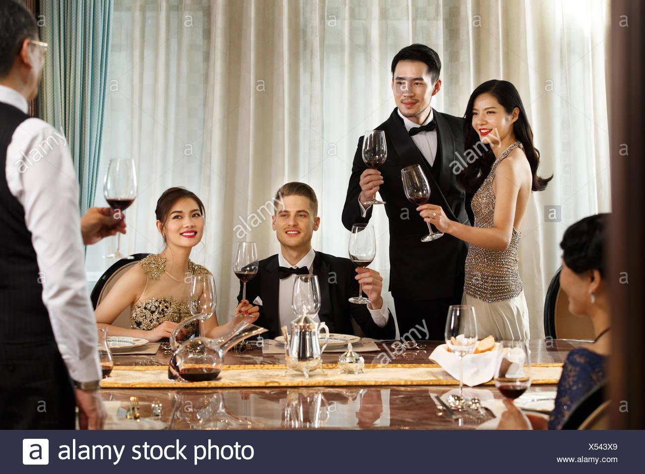Aristocratic family dinner - Stock Image