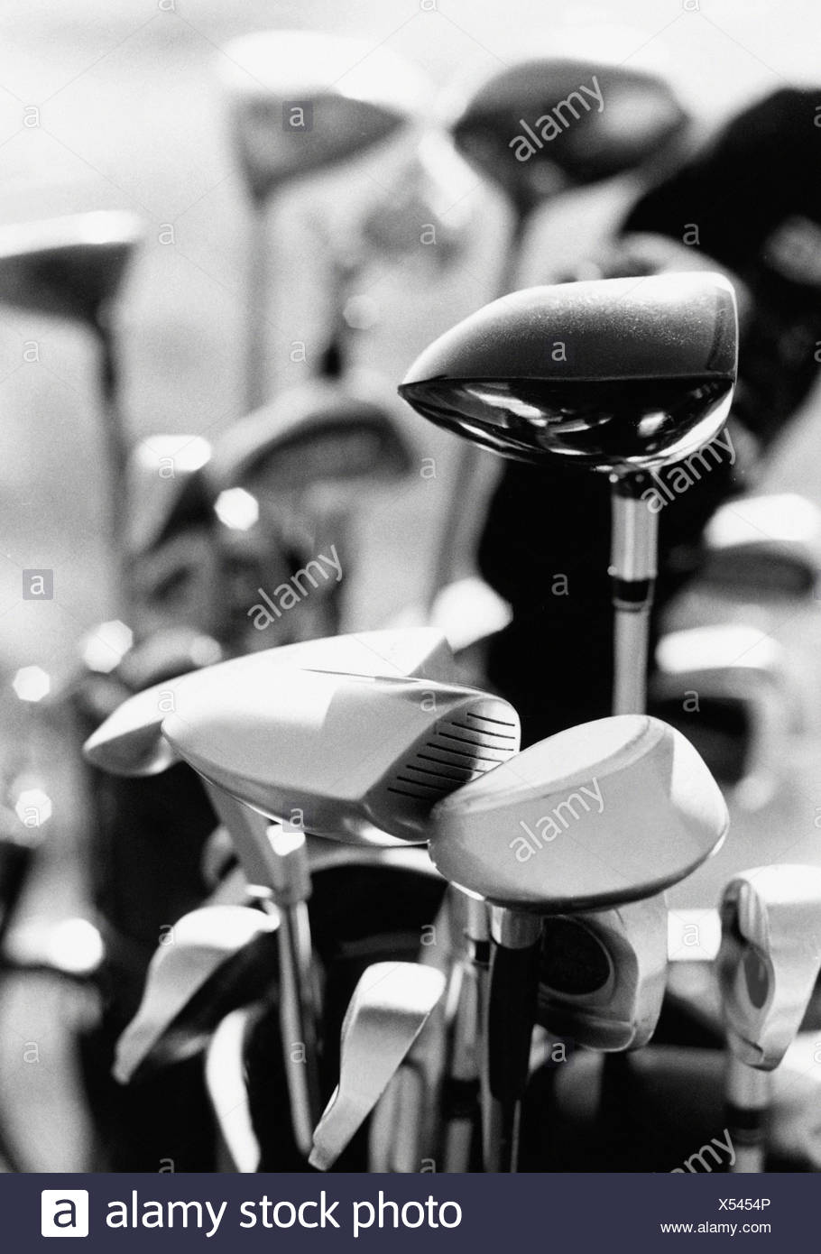 Golf clubs - Stock Image