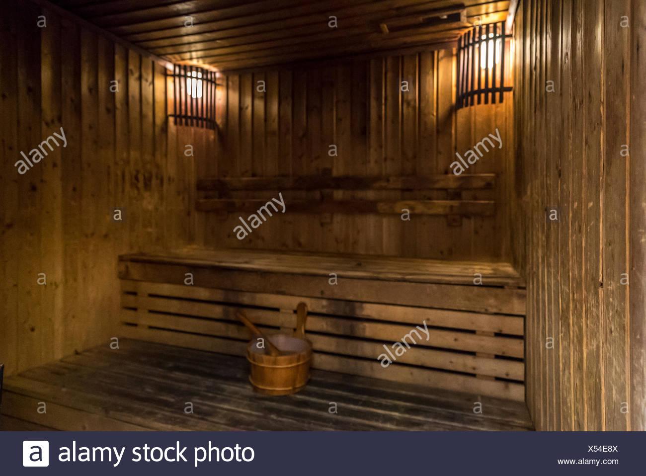 sauna room - Stock Image