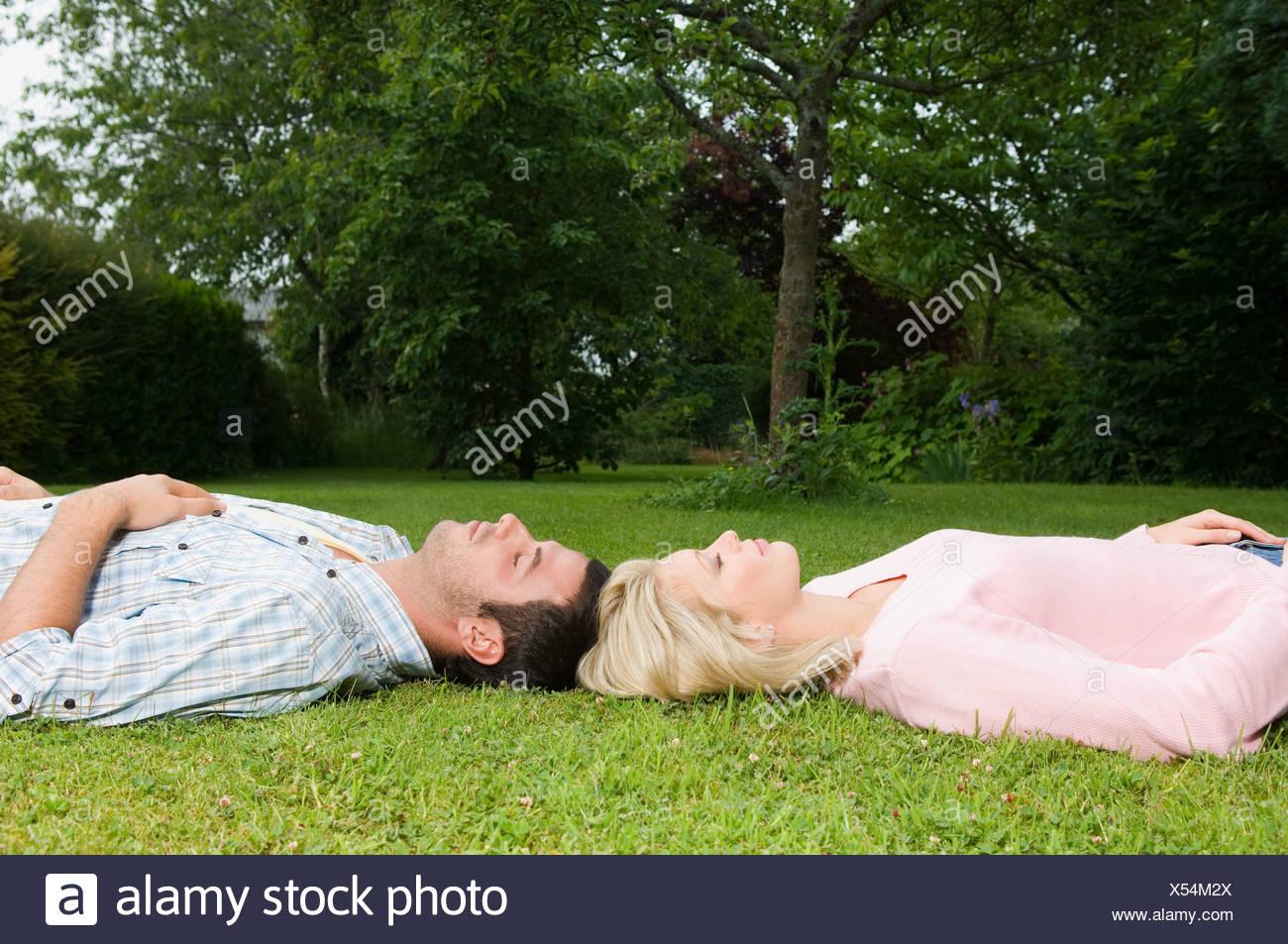 A couple sleeping - Stock Image