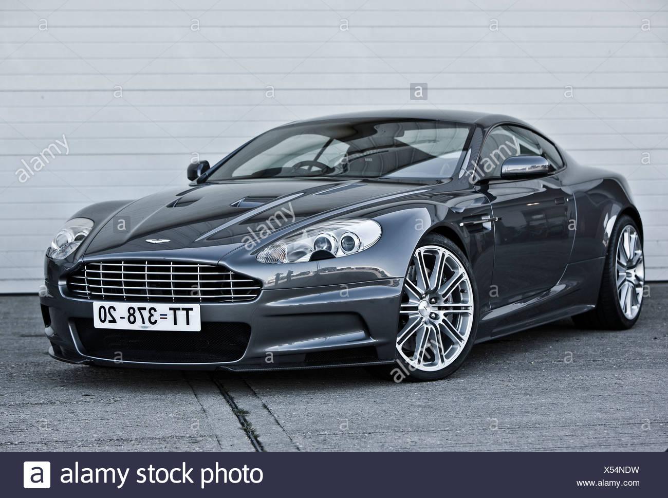 Stationary Aston Martin, James Bond classic car - Stock Image