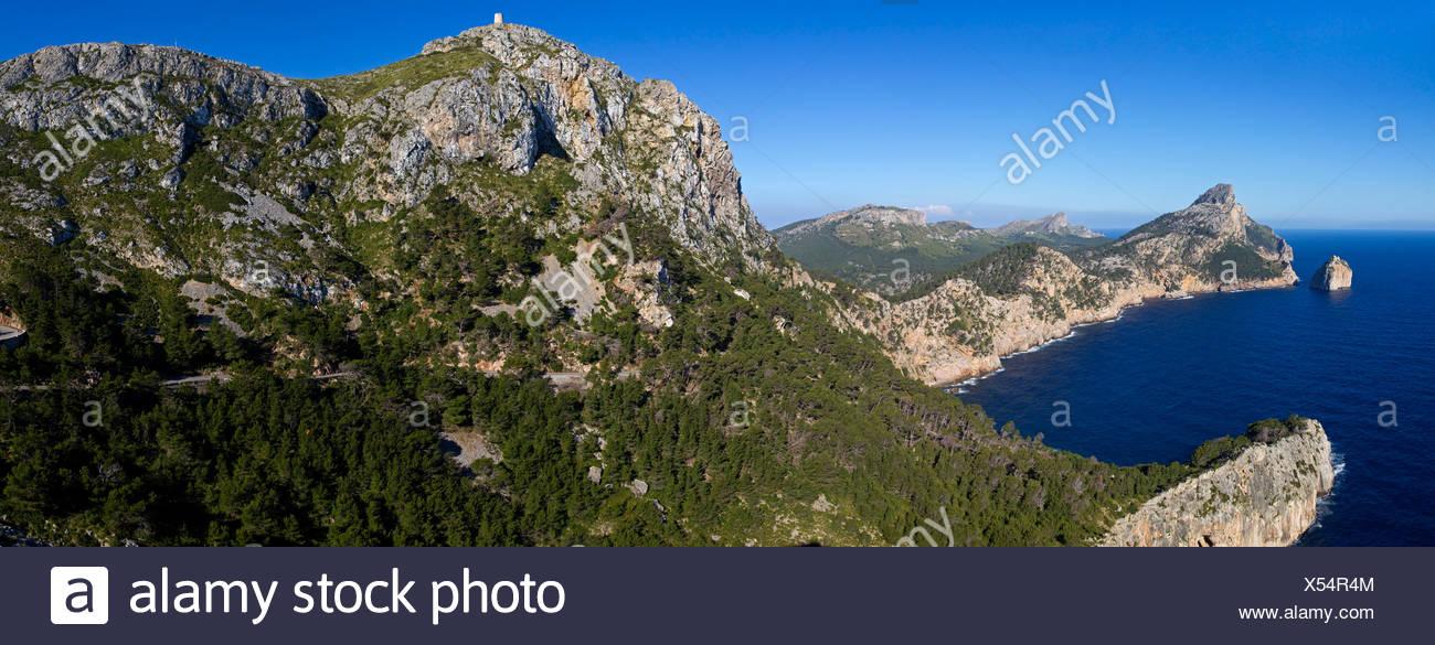 Cape Formentor, Majorca, Balearic Islands, Spain, Europe - Stock Image