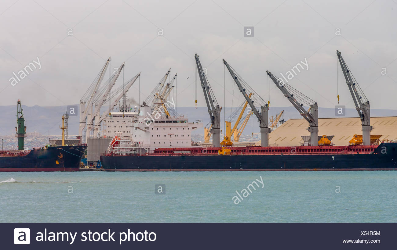 Ship on Djibouti port - Stock Image