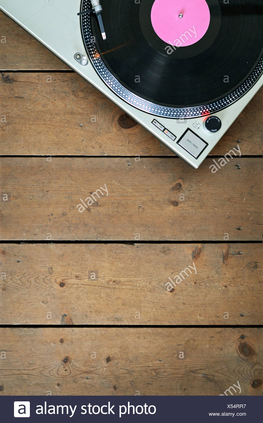 music,record player - Stock Image