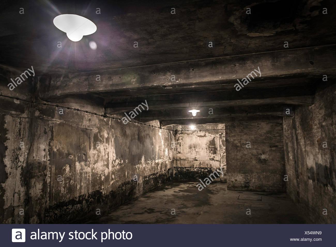 Gas chamber, Auschwitz I extermination camp, Oswiecim, Poland - Stock Image