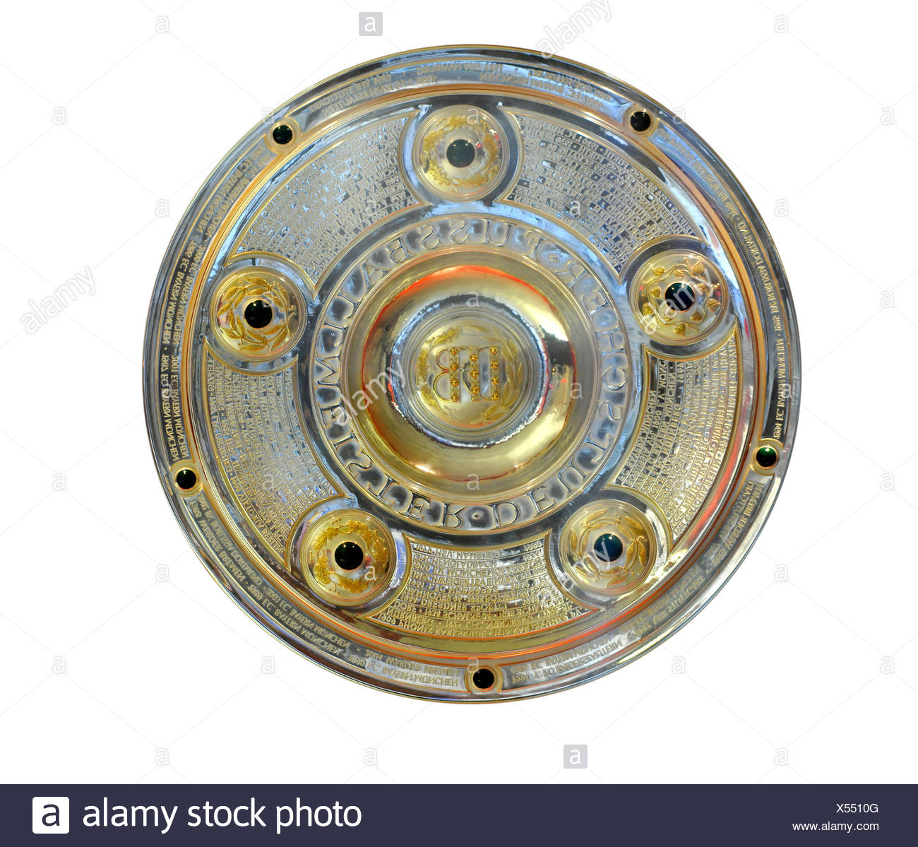 Meisterschale, Deutsche Bundesliga German football league championship trophy, cut-out - Stock Image