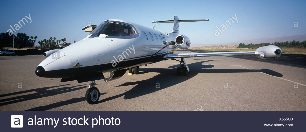 Private plane on runway - Stock Image