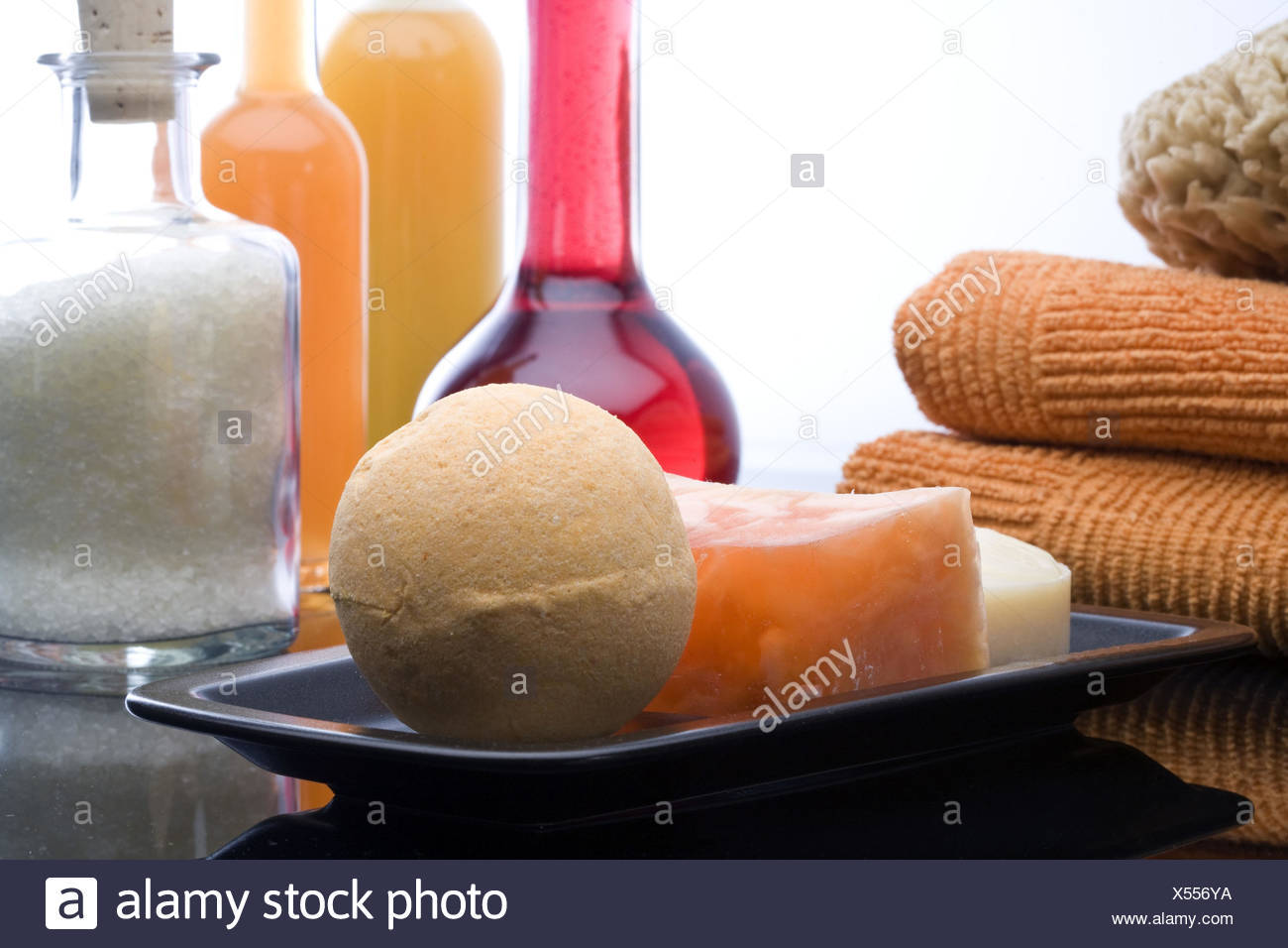 Bath products, differently, towels, fungus, detail, - Stock Image