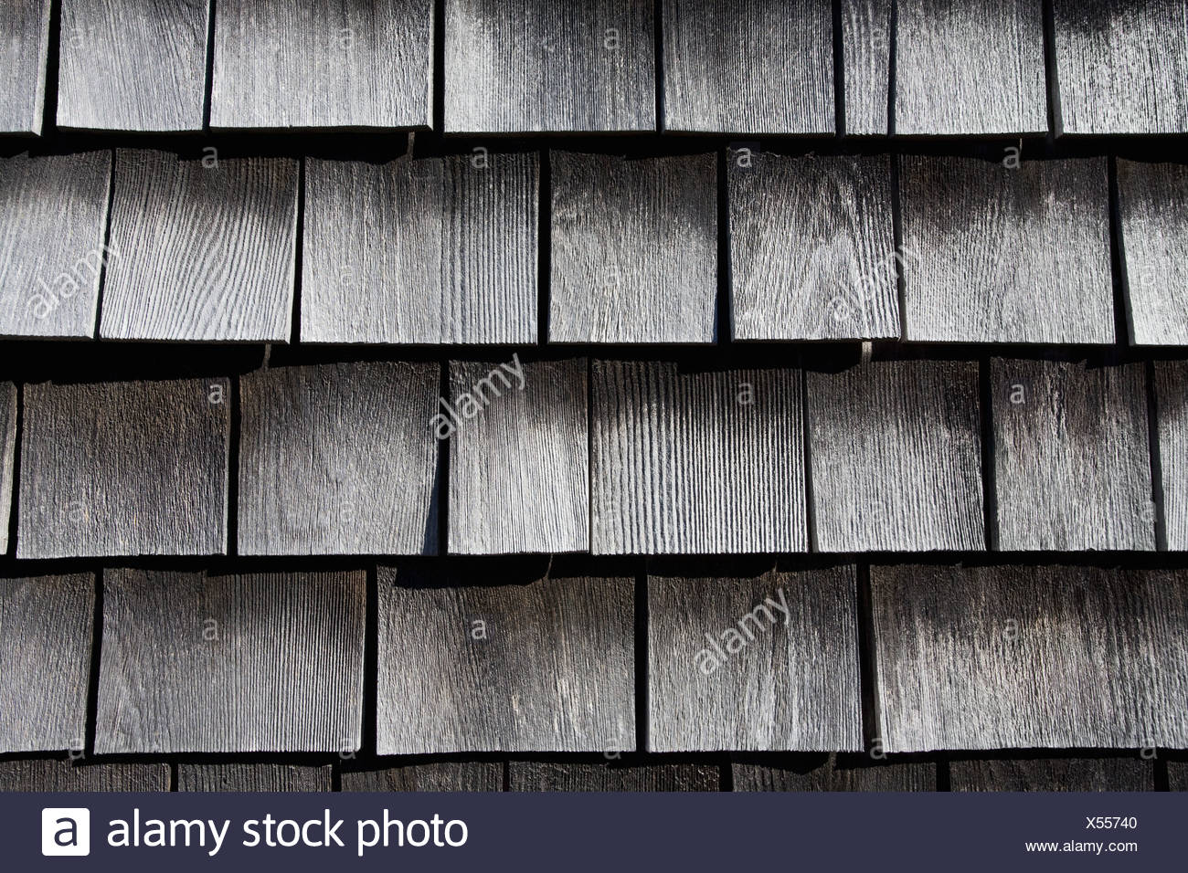 Wooden shingles - Stock Image