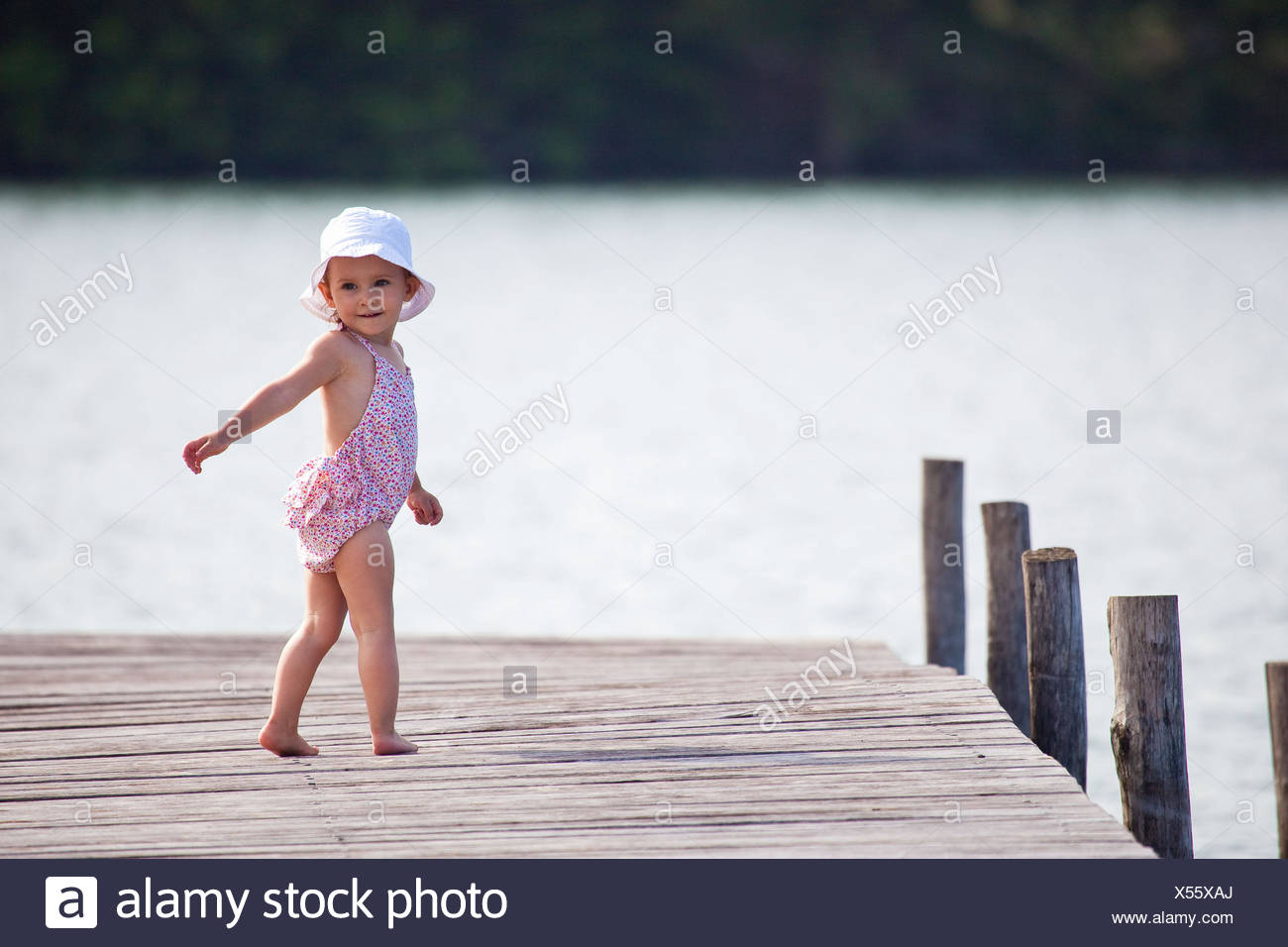 20 month old baby girl. - Stock Image