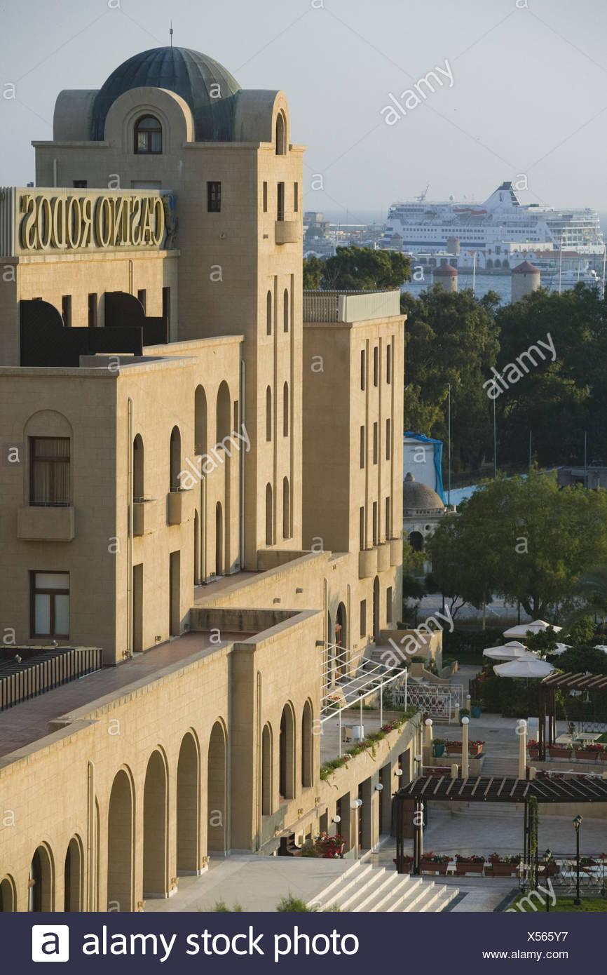 Griechenland, Rhodos, Rhodos-Stadt, Casino, außen, Morgenlicht, - Stock Image