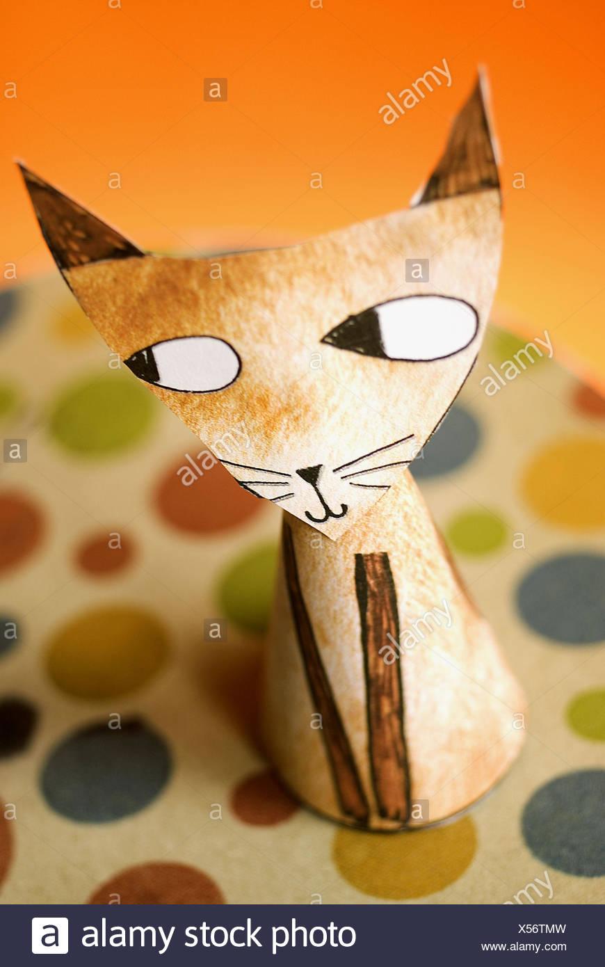 Cat paper - Stock Image