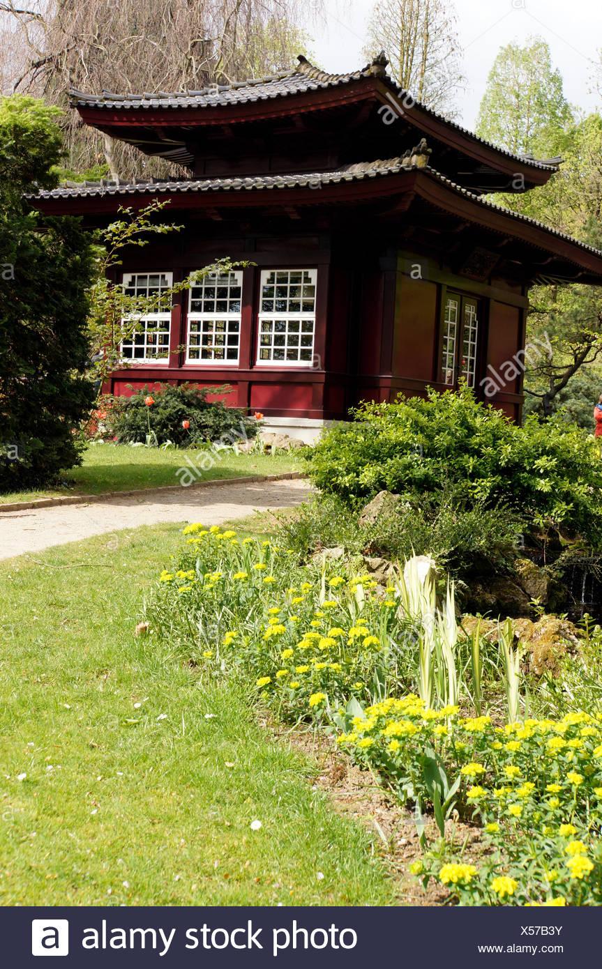 Japanisches Teehaus Leverkusen Nordrhein Westfalen Deutschland