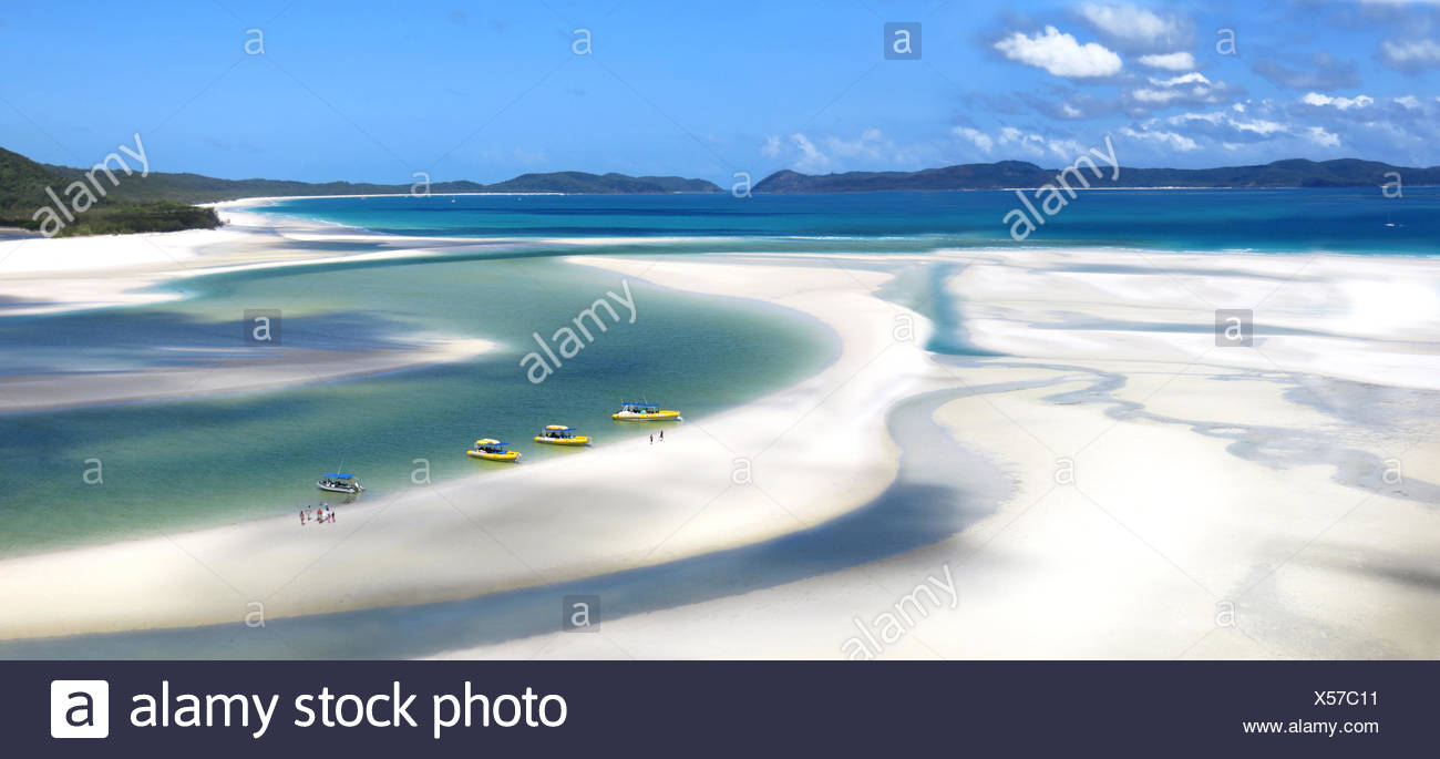 Whitehaven Beach - Whitsunday Island Queensland Australia - Stock Image