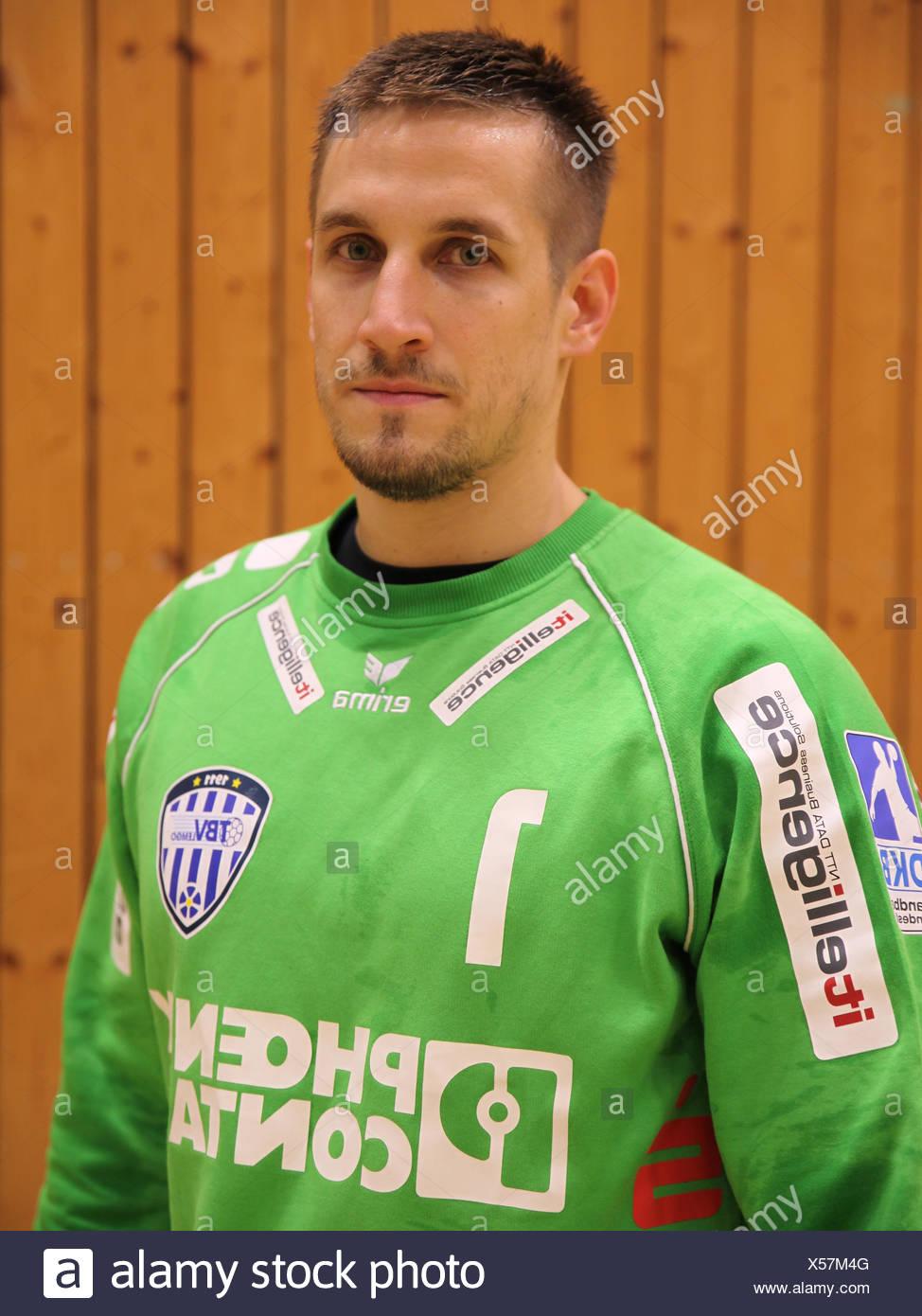 Goalkeeper Thomas Bauer (TBV Lemgo) - Stock Image