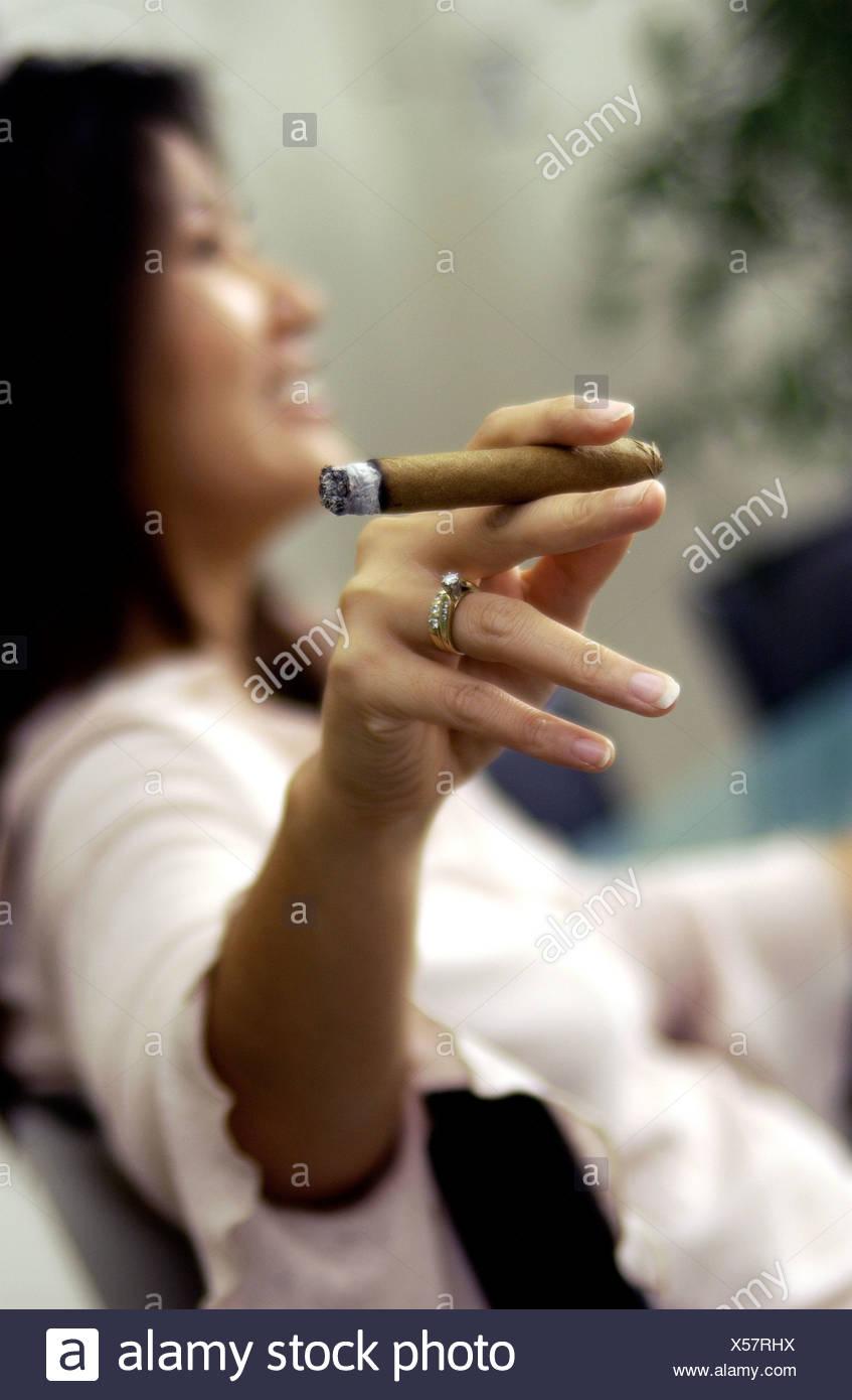 Smokers women cigar girls who