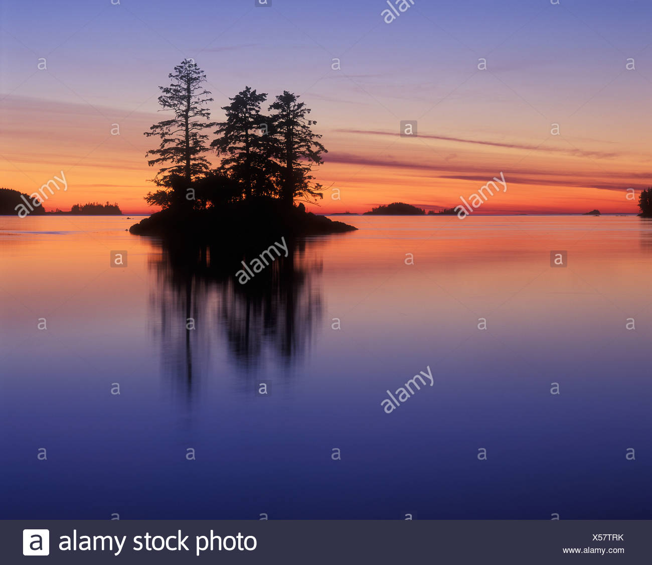 Island of south Moresby, Gwaii Haanas National Park, British Columbia, Canada. - Stock Image