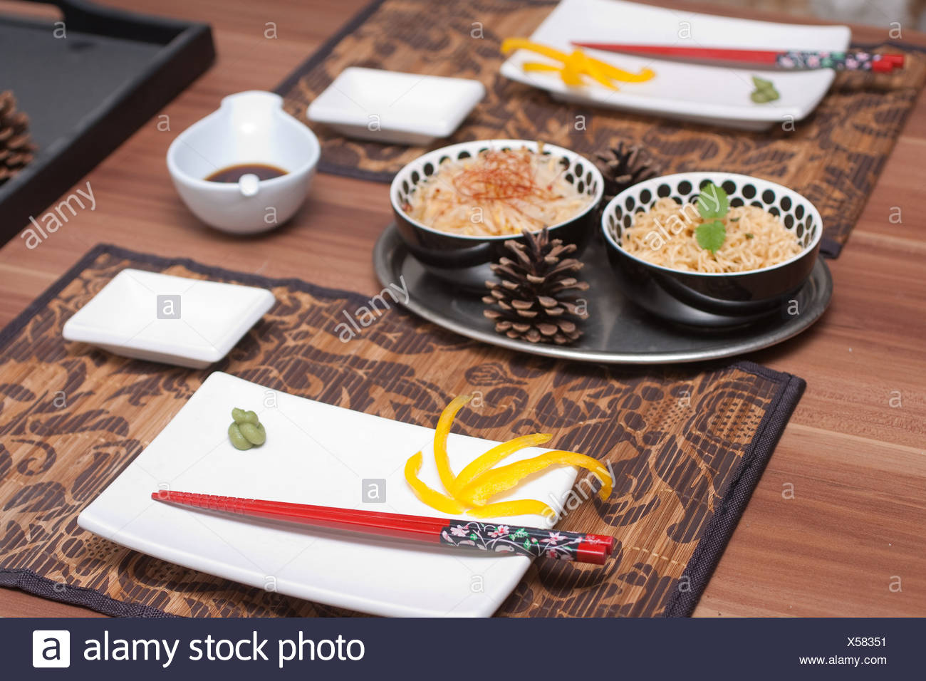 Japanese Laid Table - Stock Image
