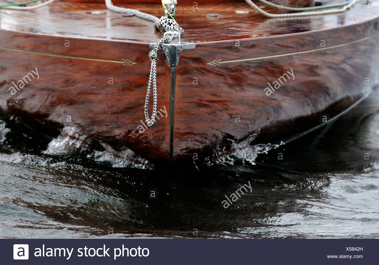 Detail of a sail boat, bow - Stock Image
