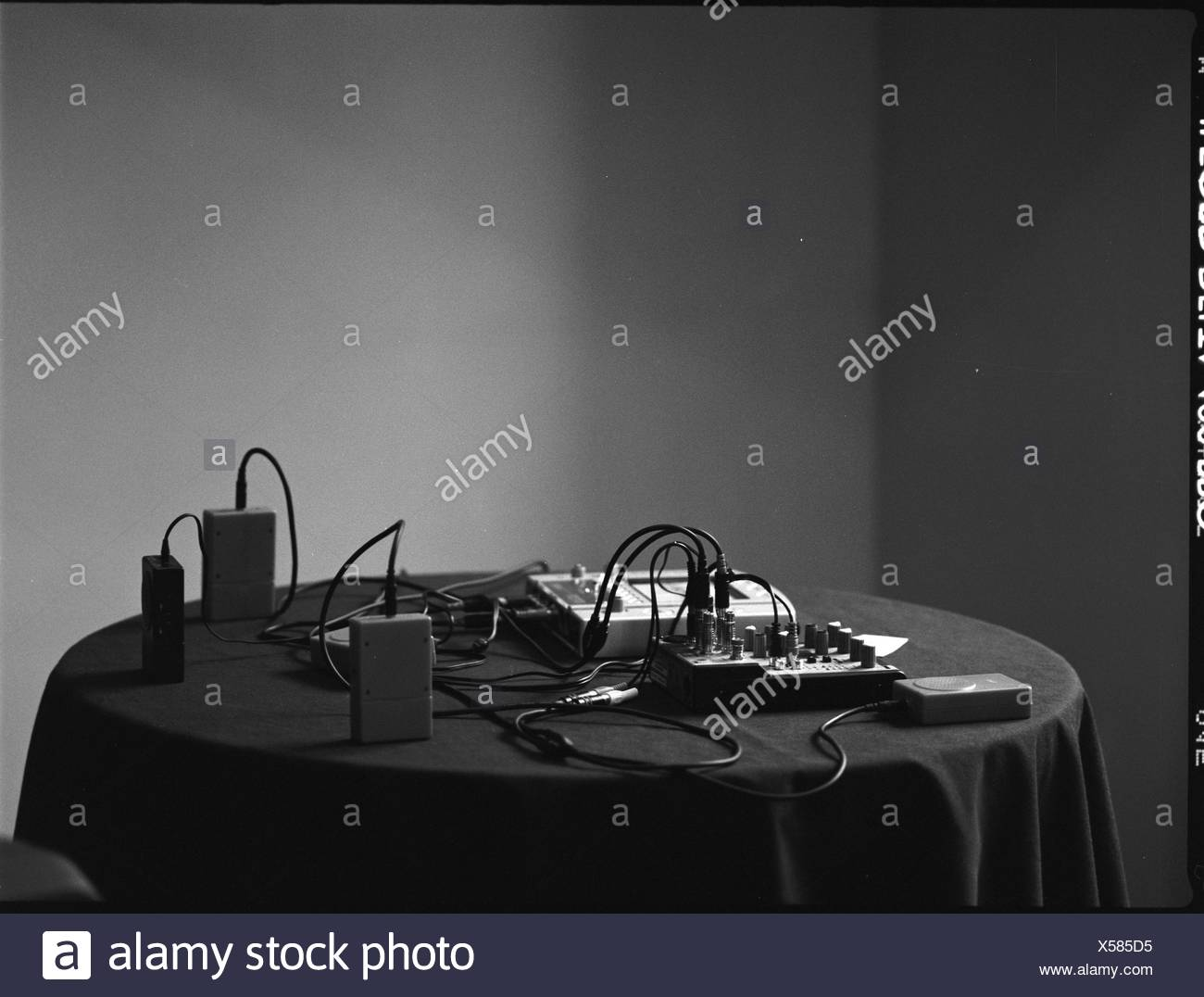 Recording Equipment On Able - Stock Image