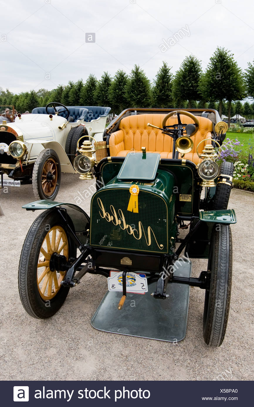 Vintage car meeting, Schwetzingen, Baden-Wuerttemberg, Germany Stock Photo