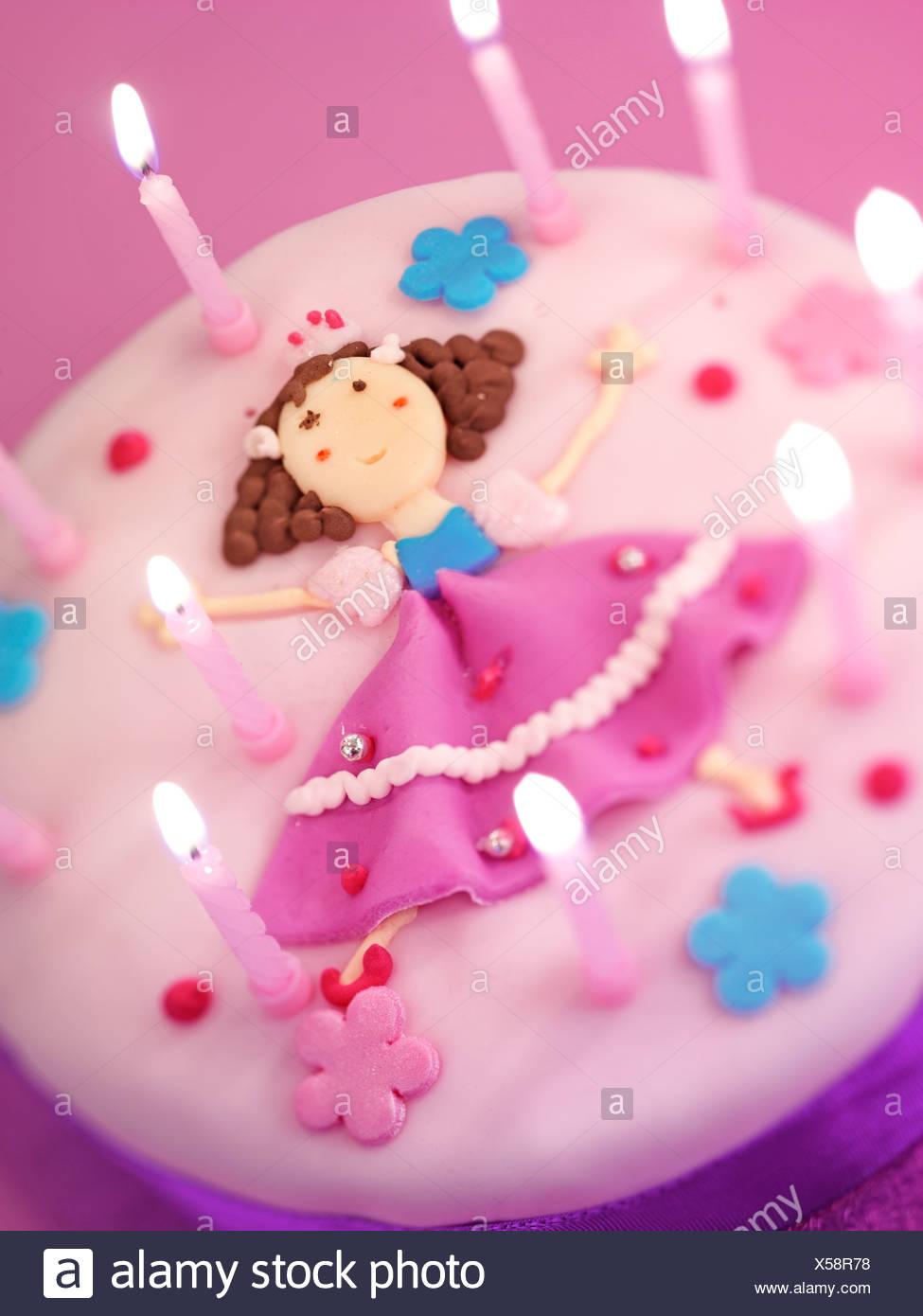 Superb Girls Birthday Cake Stock Photo 278633020 Alamy Personalised Birthday Cards Paralily Jamesorg