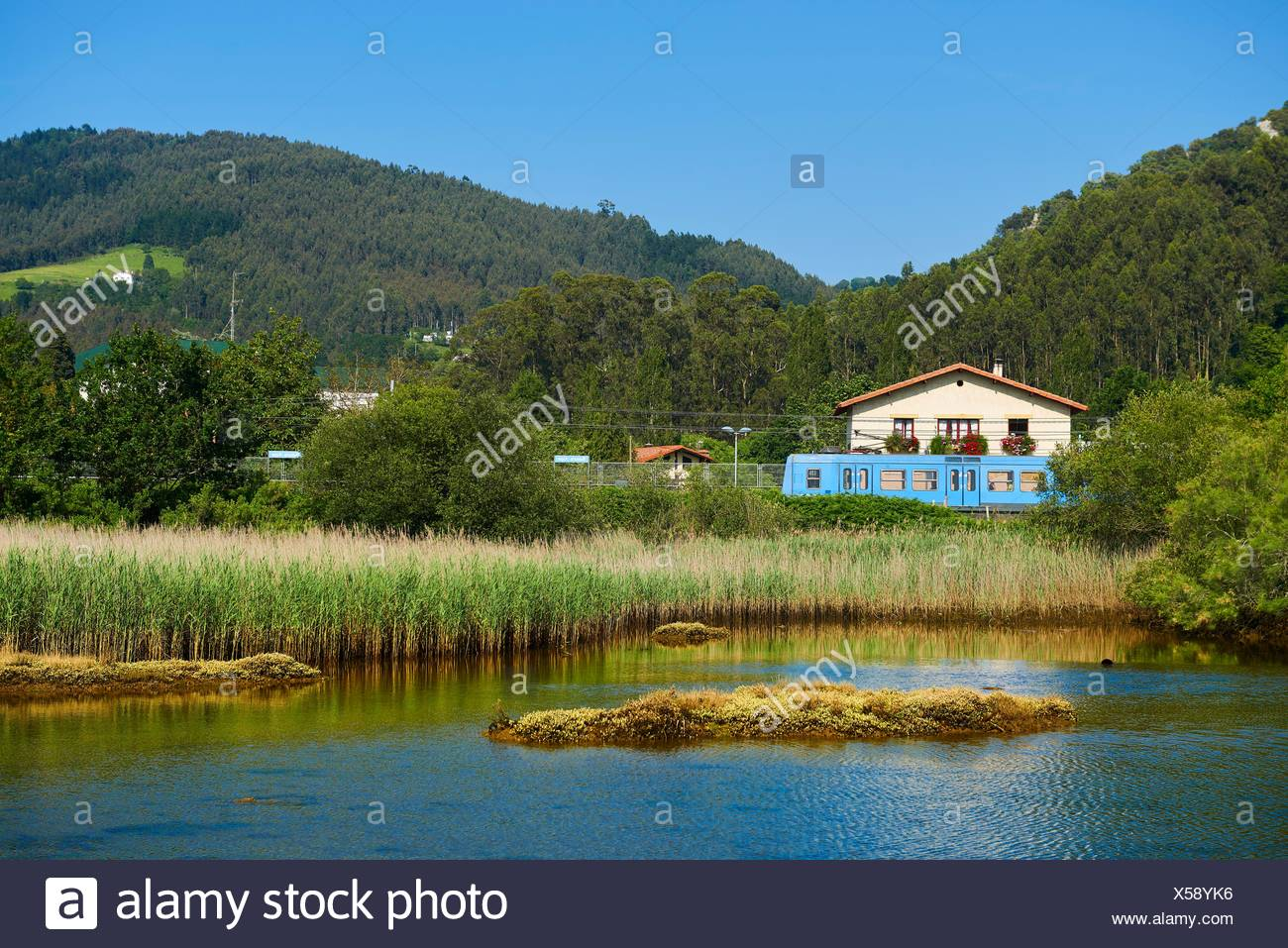 Axpe-Busturia, Biscay, Basque Country, Euskadi, Spain, Europe. - Stock Image