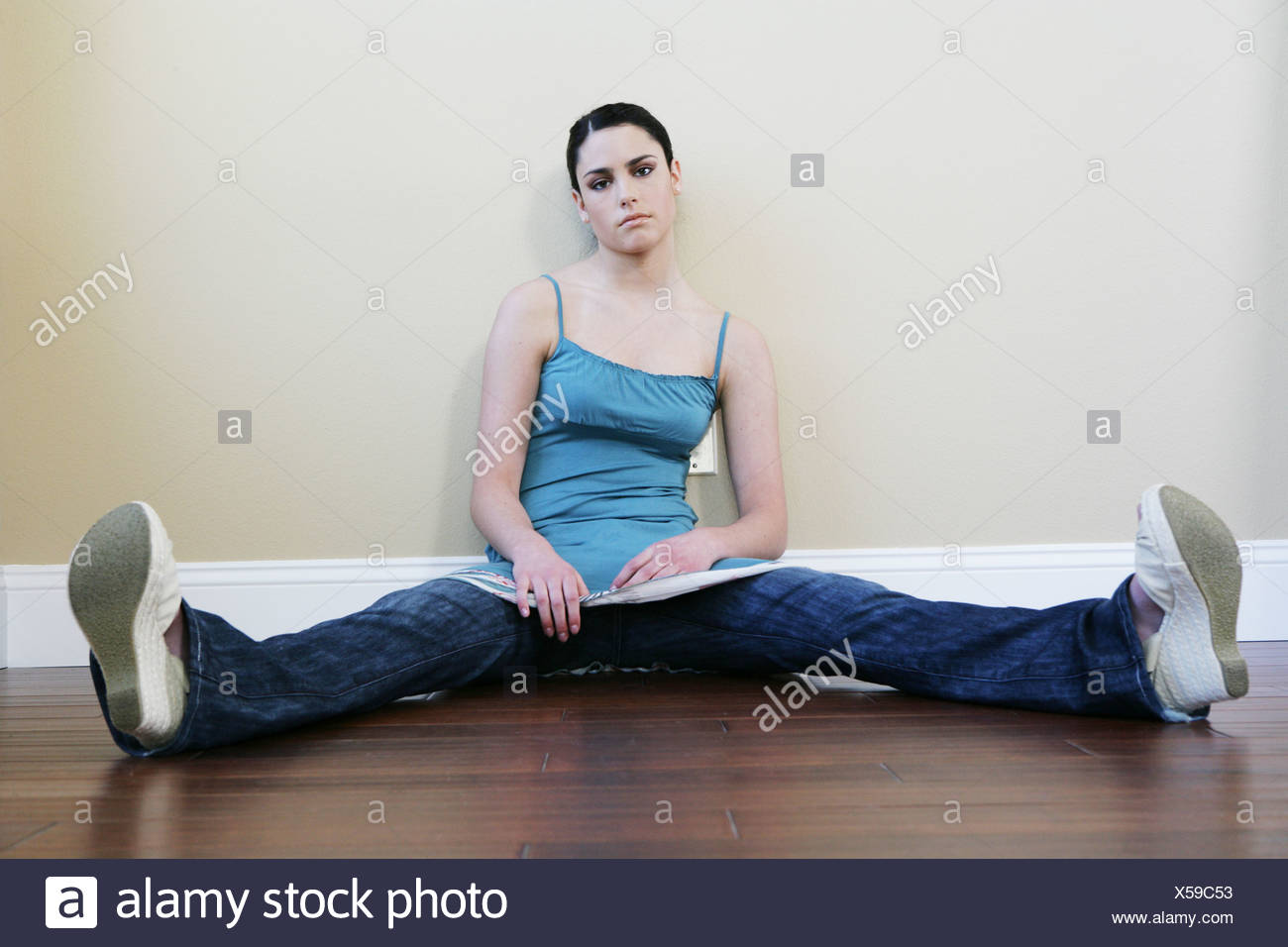 Woman Sitting With Legs Wide Open Stock Photos  Woman -1053