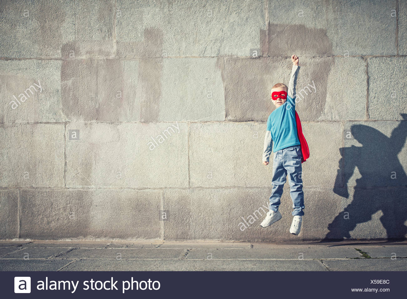Jumping boy - Stock Image