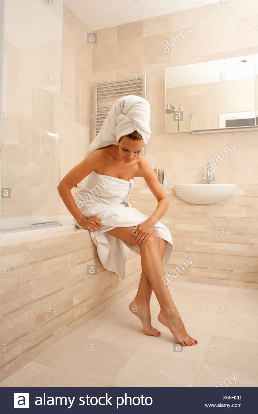 Woman at her toilette - Stock Image