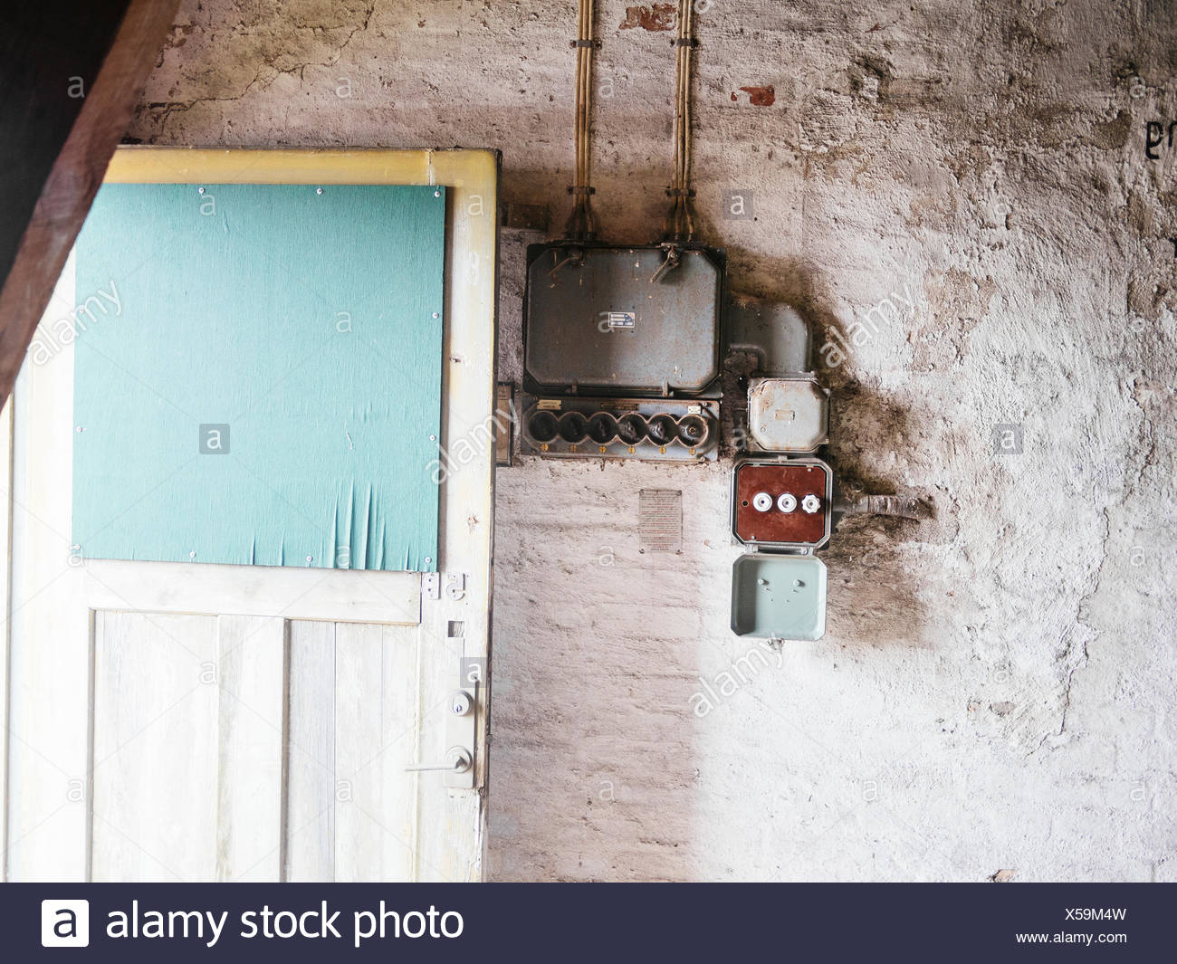 old electrical fuse box stock photos old electrical fuse. Black Bedroom Furniture Sets. Home Design Ideas