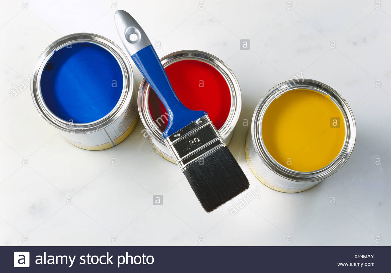 Chemistry container tin can paint yellow red blue brush chemistry container tin can paint yellow red blue brush paint brush decorating decoration do it yourself diy pigme solutioingenieria Gallery