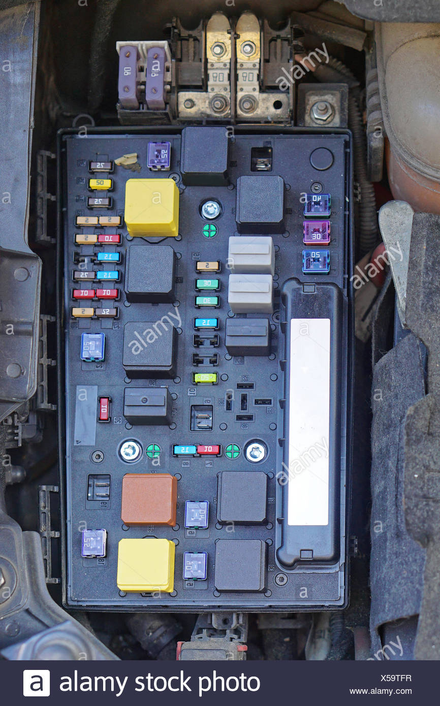 car fuse box - stock image