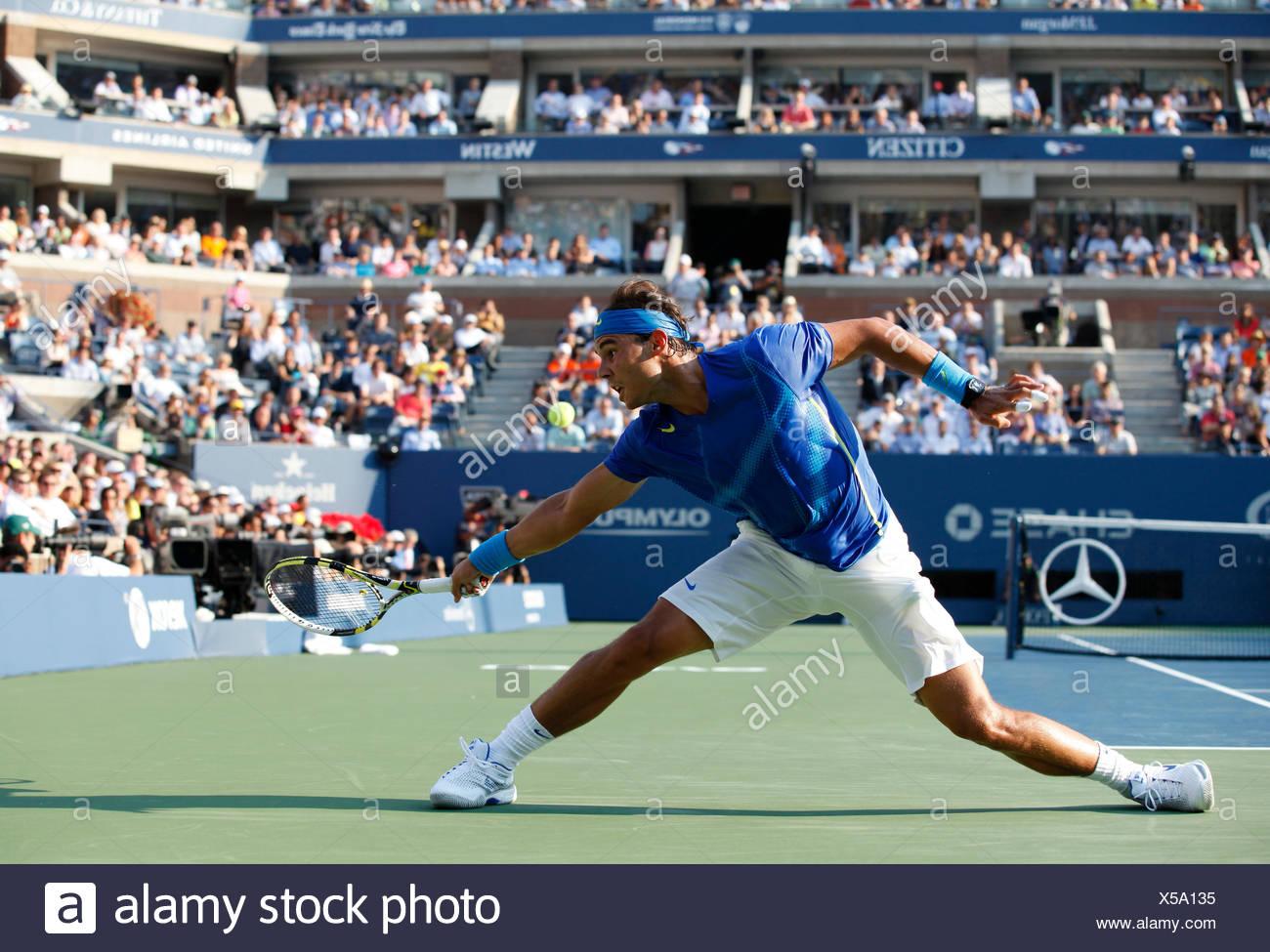 Men's final, Rafael Nadal, ESP, ITF Grand Slam tennis tournament, U.S. Open 2011, USTA Billie Jean King National Tennis Center - Stock Image