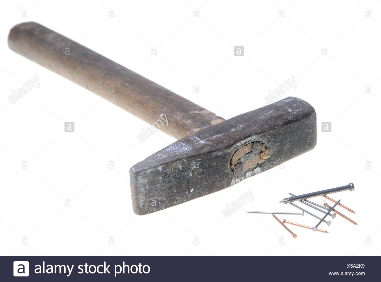Old hammer - Stock Image