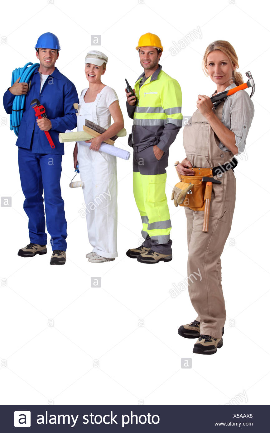 group of artisans Stock Photo
