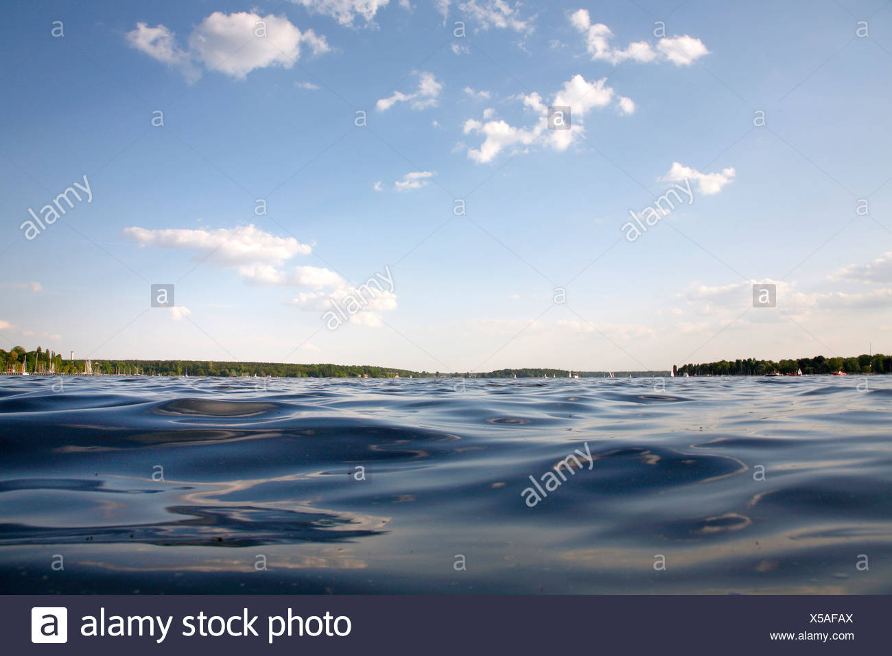 Wannsee Lake in Berlin, Germany, Europe Stock Photo