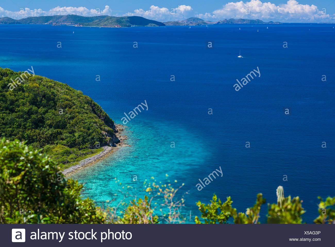 U.S. Virgin Islands, St. John, Friis Bay, waterfront - Stock Image